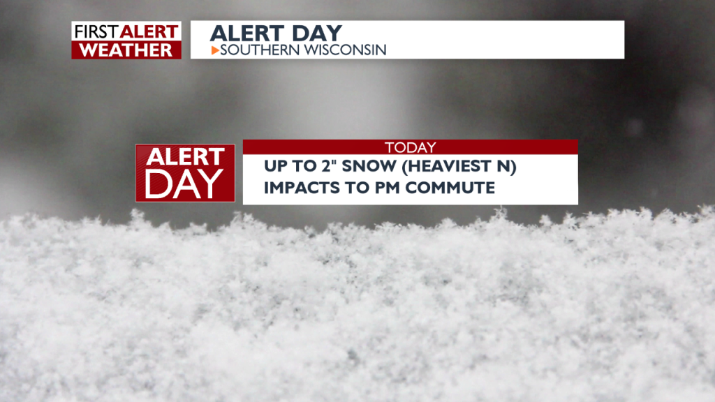 Lt. snow develops this afternoon, impacts evening rush hour -Haddie