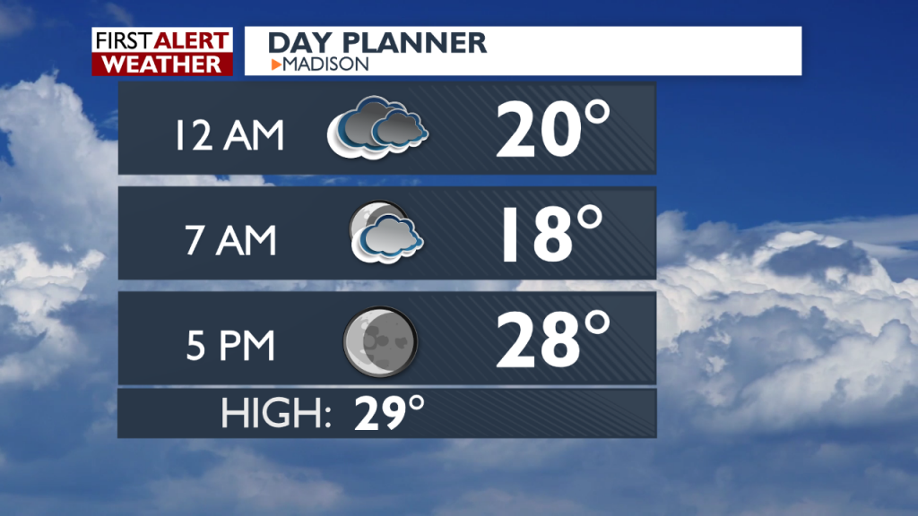 Overnight Forecast for December 15-16, 2015