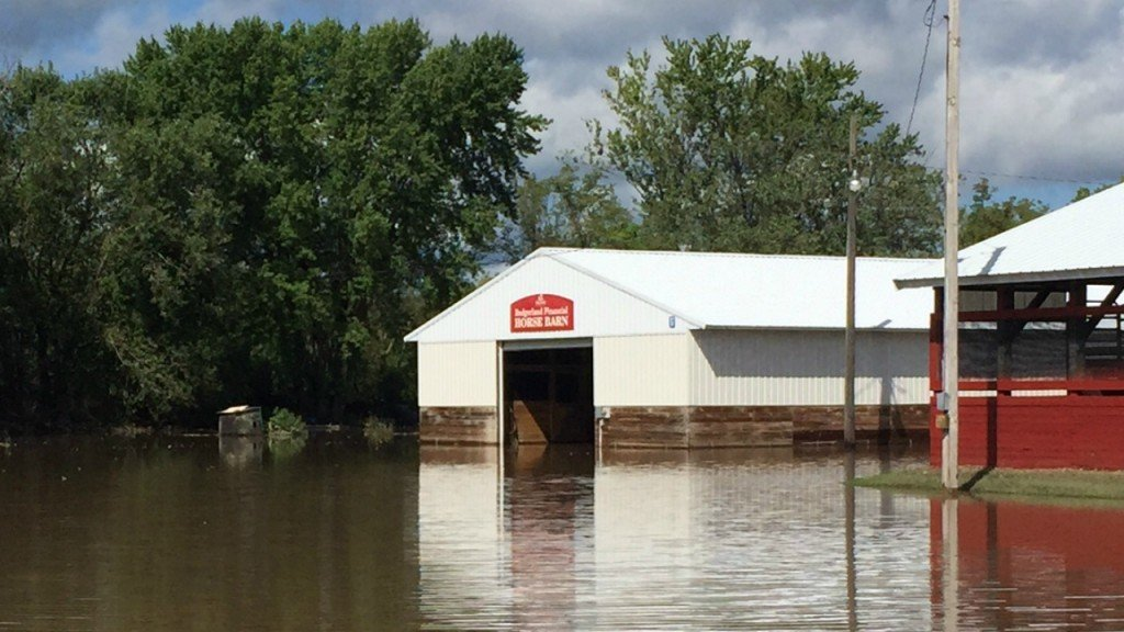 PHOTOS: Richland County fairgrounds flooded Thursday