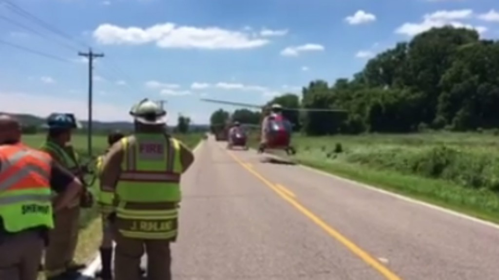 2 Medflight helicopters respond for 2 thrown from motorcycle, officials say