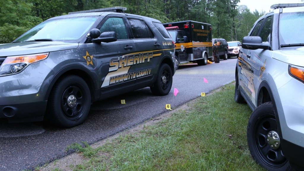 PHOTOS: Scene of officer-involved shooting in Marinette County