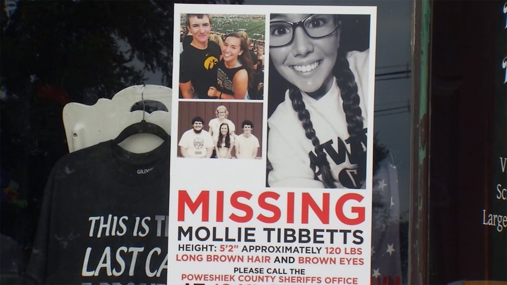 Mollie Tibbetts told follower she would call police