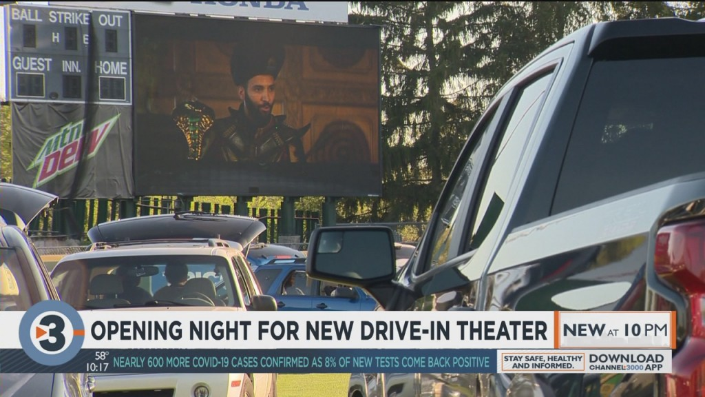 Opening Night For New Drive In Theater In Madison