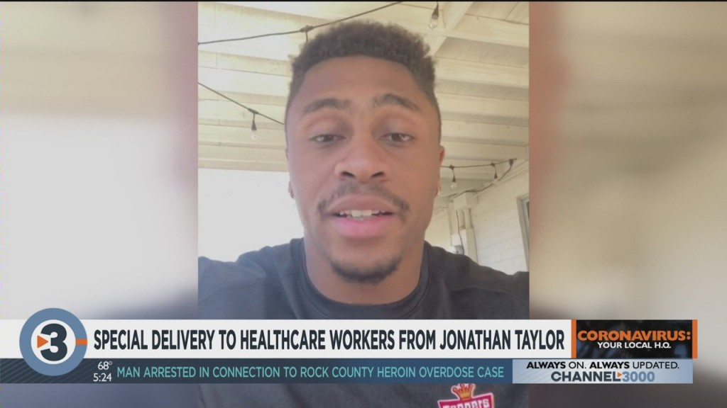 Jonathan Taylor Gives Special Delivery To Health Care Workers