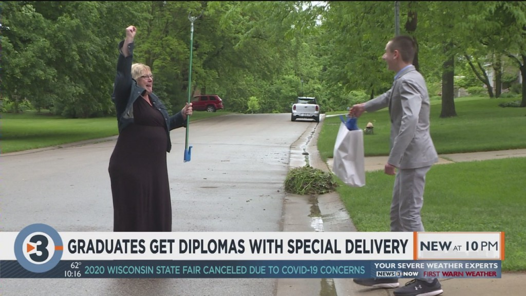 Graduates Get Diplomas With Special Delivery