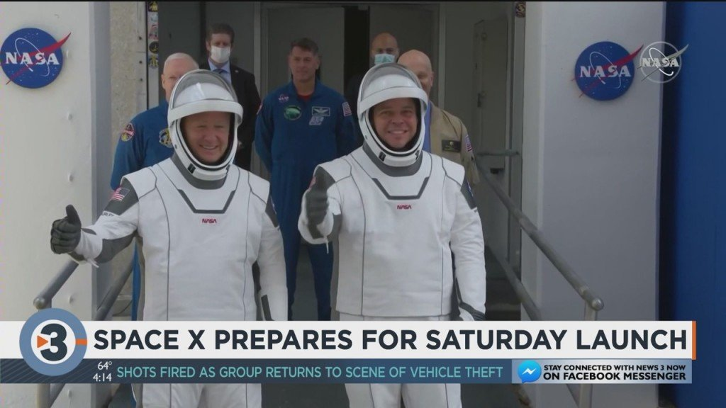 Space X Prepares For Saturday Launch