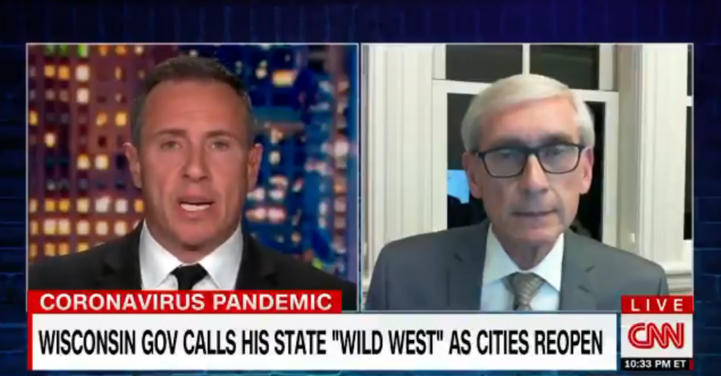 Gov. Evers appears on Cuomo Prime Time