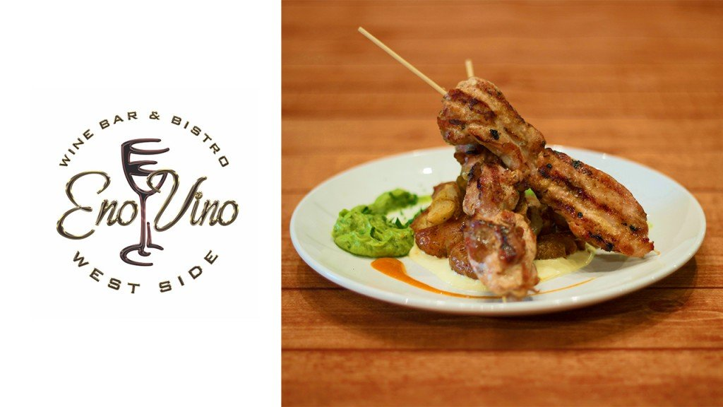 Eno Vino chicken skewers