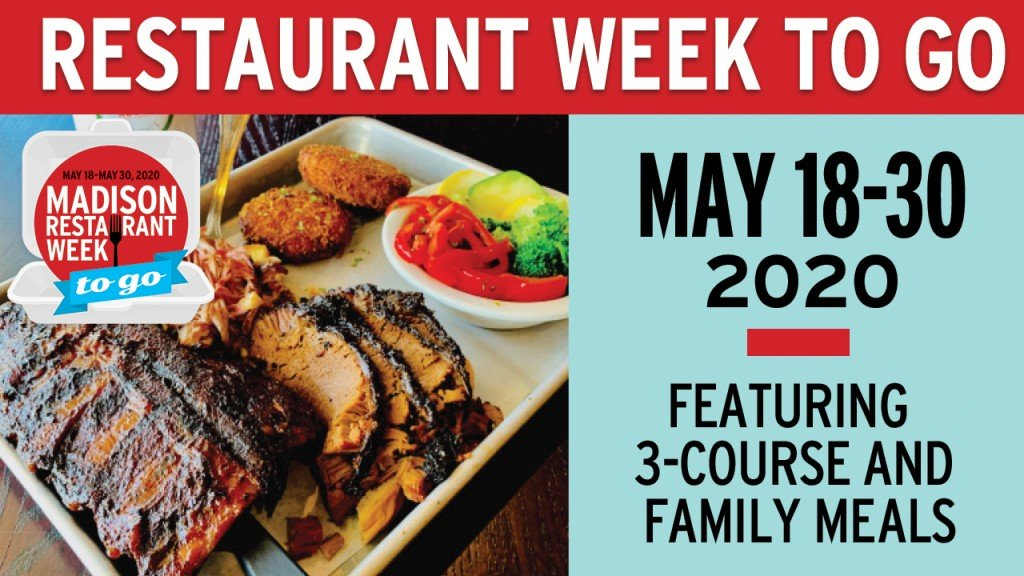 restaurant week to go logo with dish