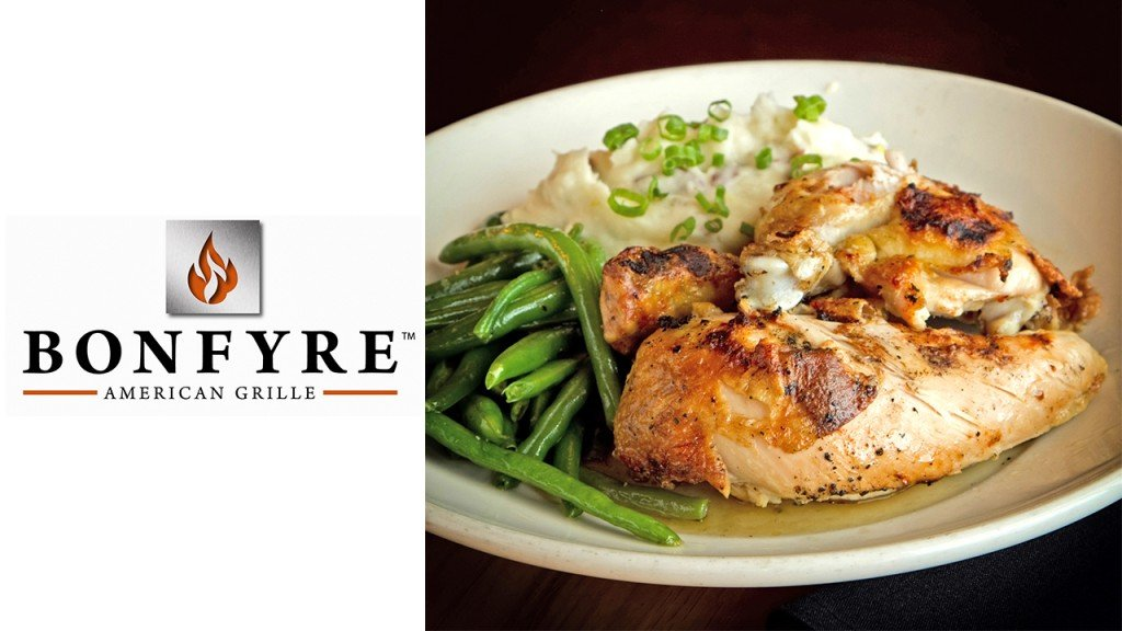Bonfyre plate with chicken and green beans