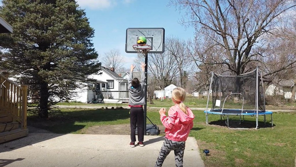 Kids Playing Outside Basketball