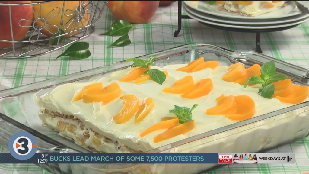 Mr. Food: Peachy Keen Icebox Cake