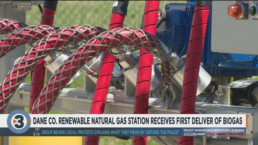 Dane Co. Renewable Natural Gas Station Receives First Delivery Of Biogas