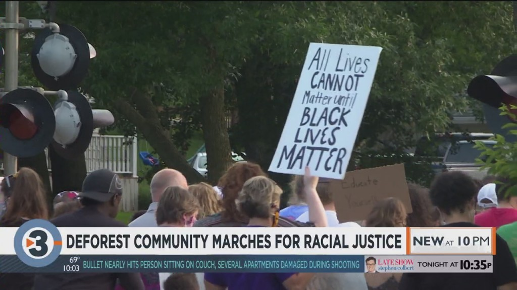 Deforest Community Marches For Racial Justice