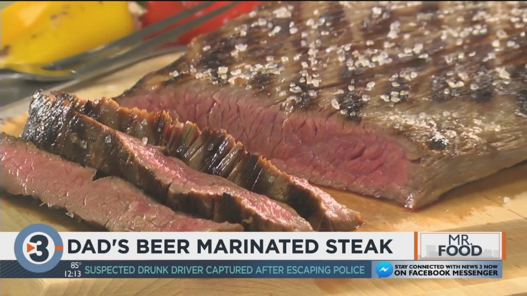 Mr. Food: Dad's Beer Marinated Steak