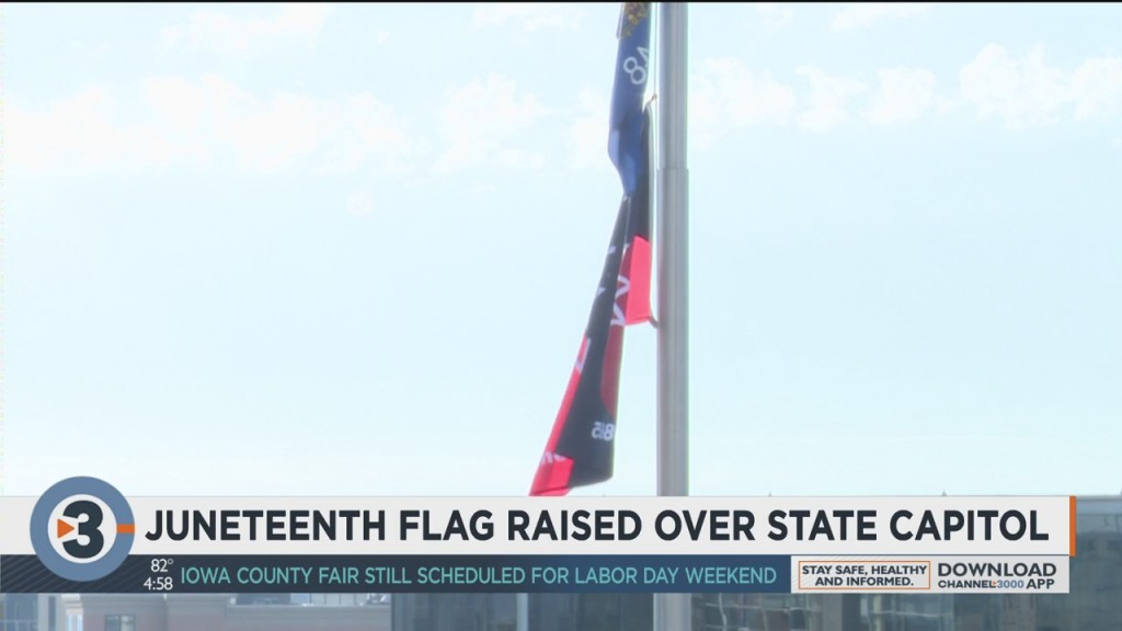 Juneteenth Flag Raised Over State Capitol