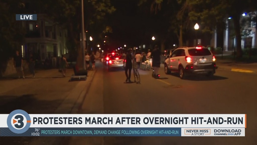 Protesters March After Overnight Hit And Run