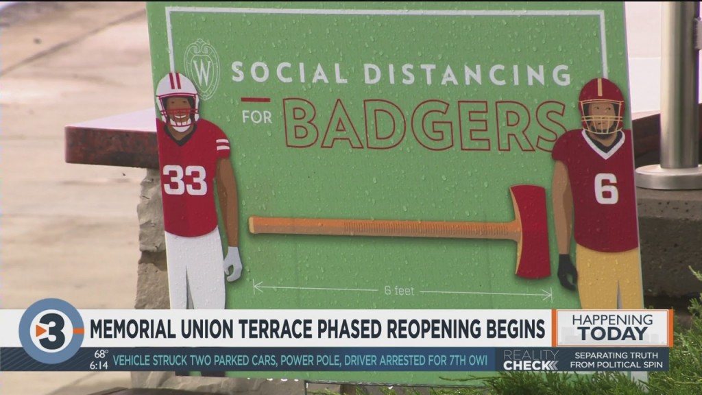 Memorial Union Terrace Phased Reopening Begins