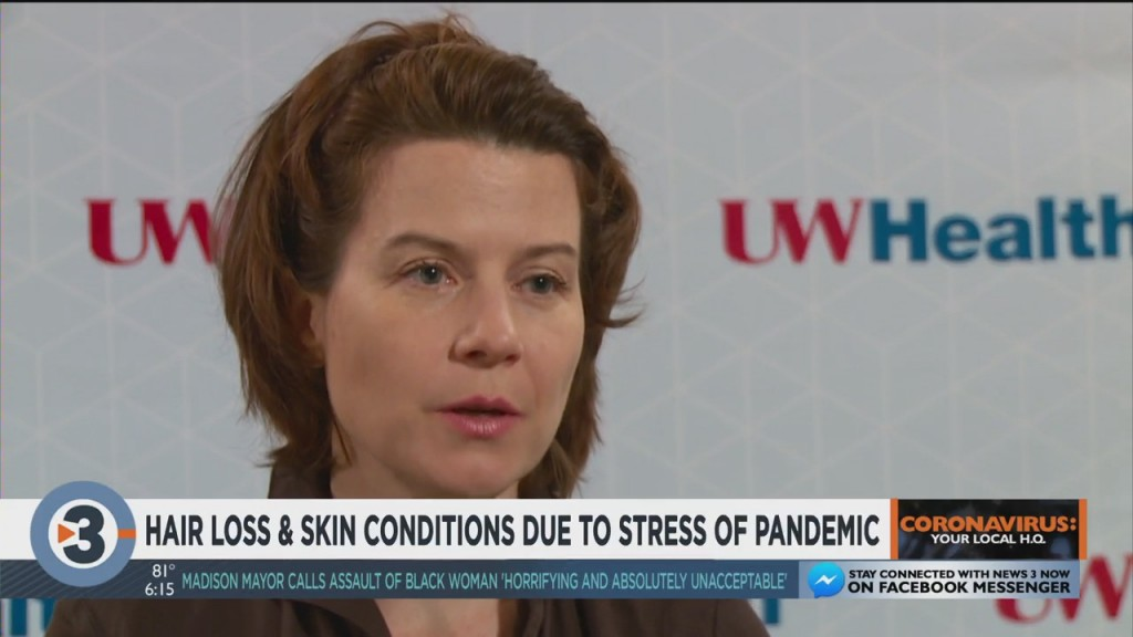Hair Loss And Skin Conditions Due To Stress Of Pandemic