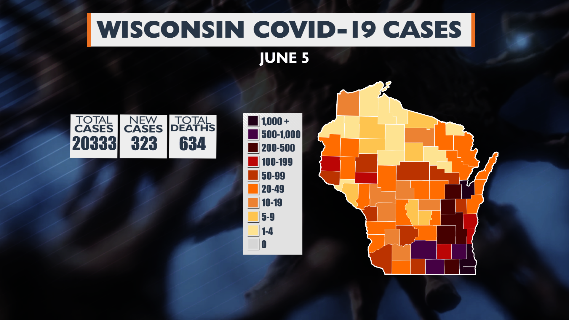 6 05 20 Update Wi Covid 19 Cases Map
