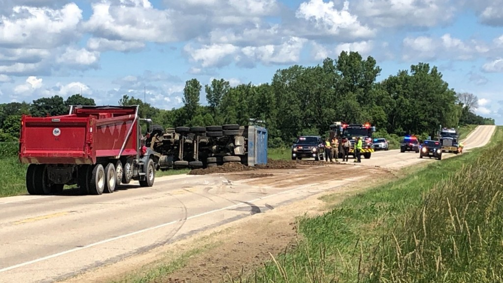 Rolled Over Dump Truck (1)