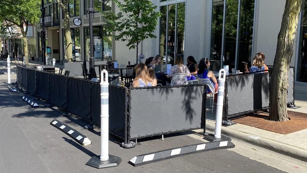 Temporary outdoor dining at Lucille