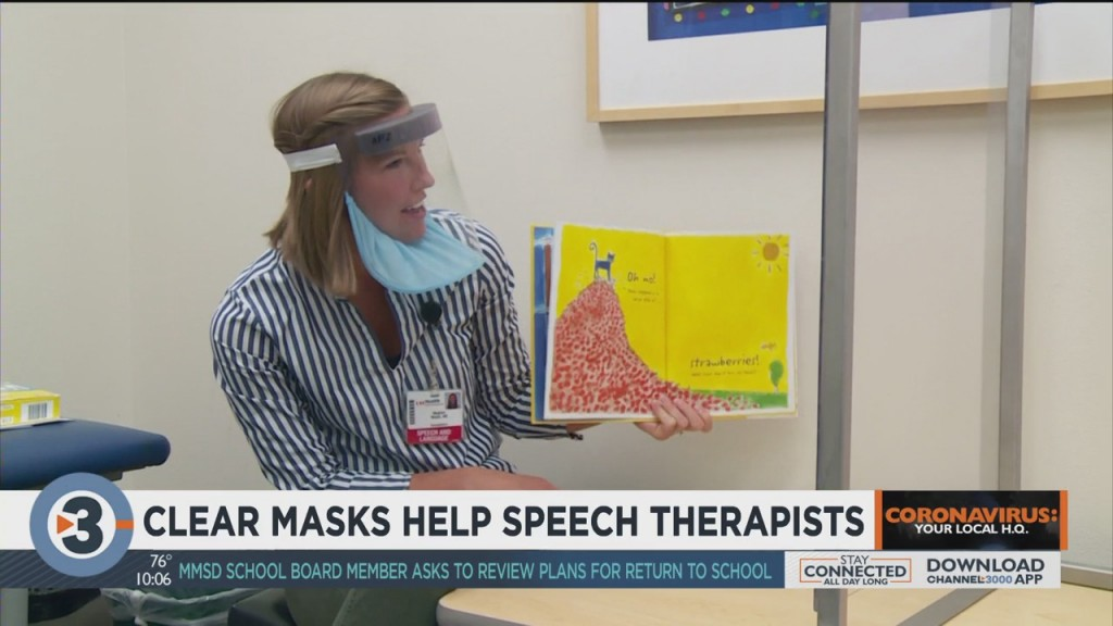 Clear Masks Help Speech Therapists