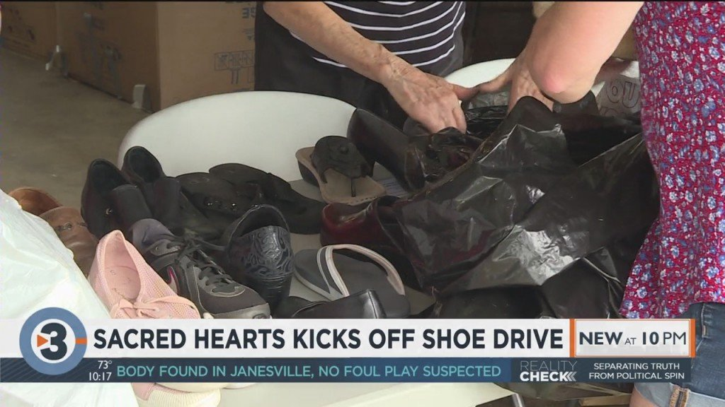 Sacred Hearts Kicks Off Shoe Drive