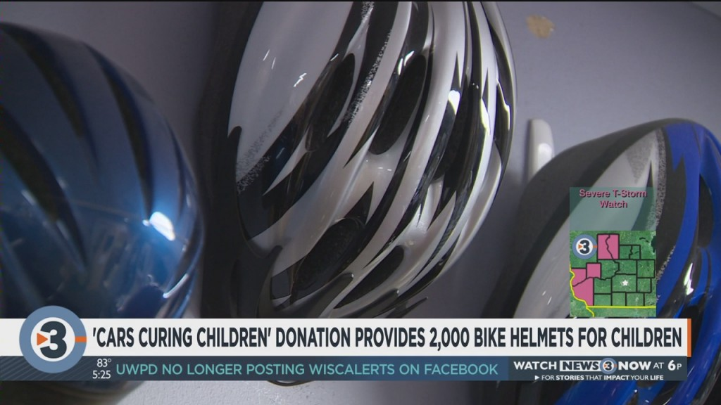 'cars Curing Children' Donation Provides 2,000 Bike Helmets For Children