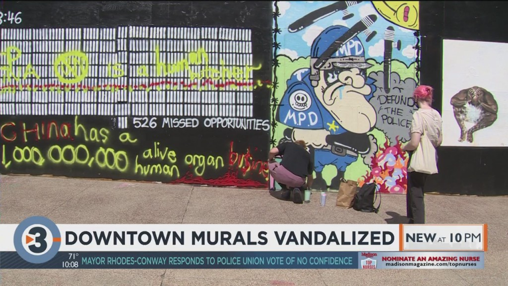 Downtown Madison Murals Vandalized