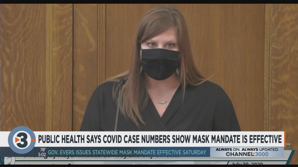 Public Health Madison And Dane County Says Covid 19 Case Numbers Show Mask Mandate's Effectiveness