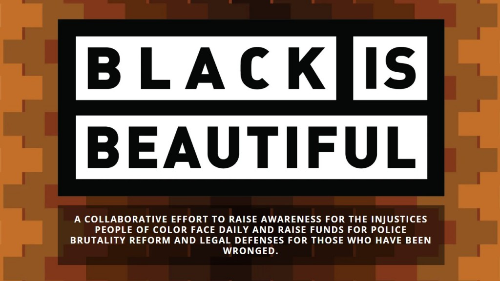 Black Is Beautiful Beer's website homepage.