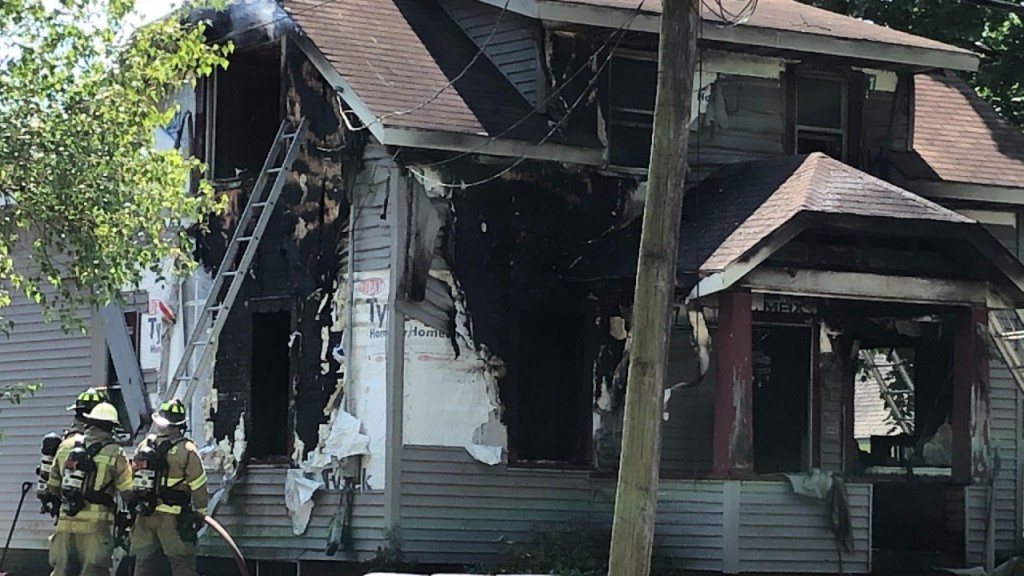 A residential fire in Marshall