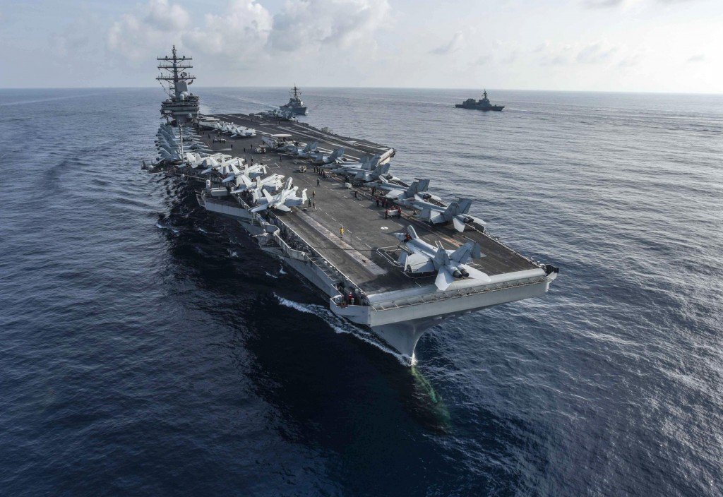 The aircraft carrier USS Ronald Reaga