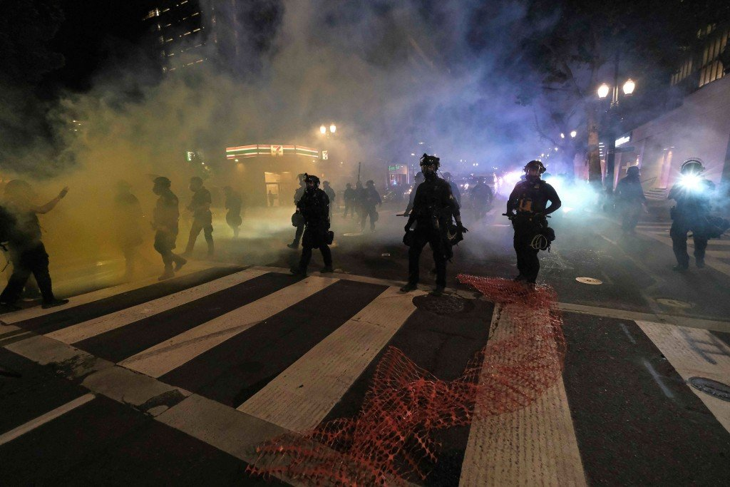 Tear Gas Deployed As Riot Declared Once Again In Portland