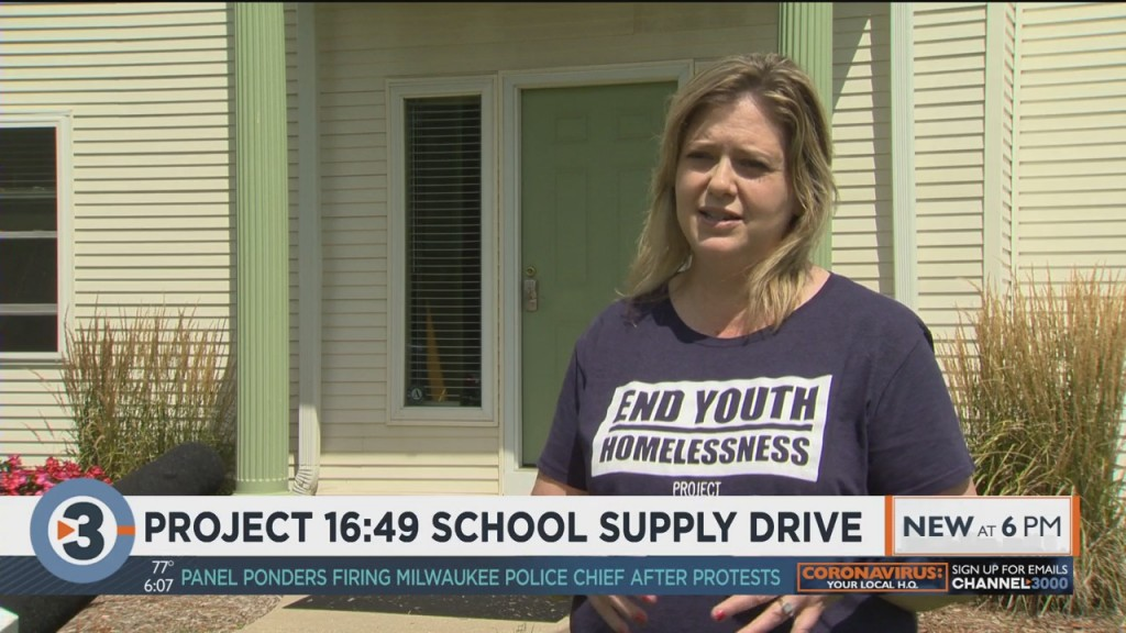 Rock County Nonprofit Collects School Supplies For Homeless, Unaccompanied Teens