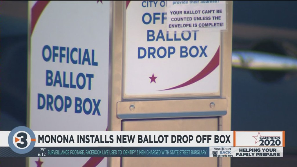 Monona Installs New Ballot Drop Off Box