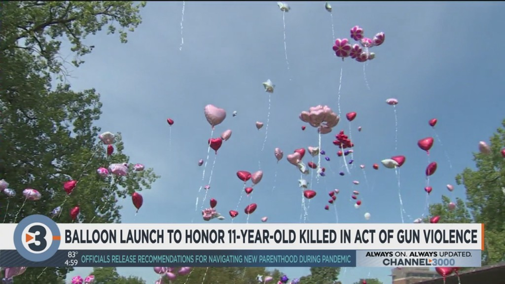 Balloon Launch To Honor 11 Year Old Killed In Act Of Gun Violence