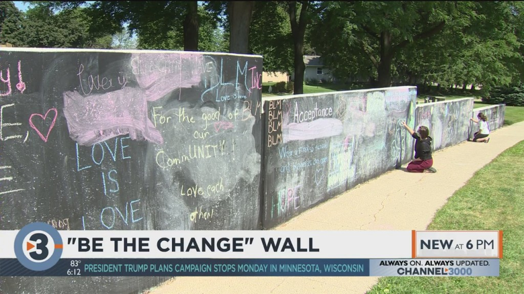 Visiting Waunakee's 'be The Change' Wall