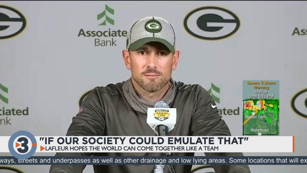 Packers Head Coach Hopes World Can Come Together Like A Team