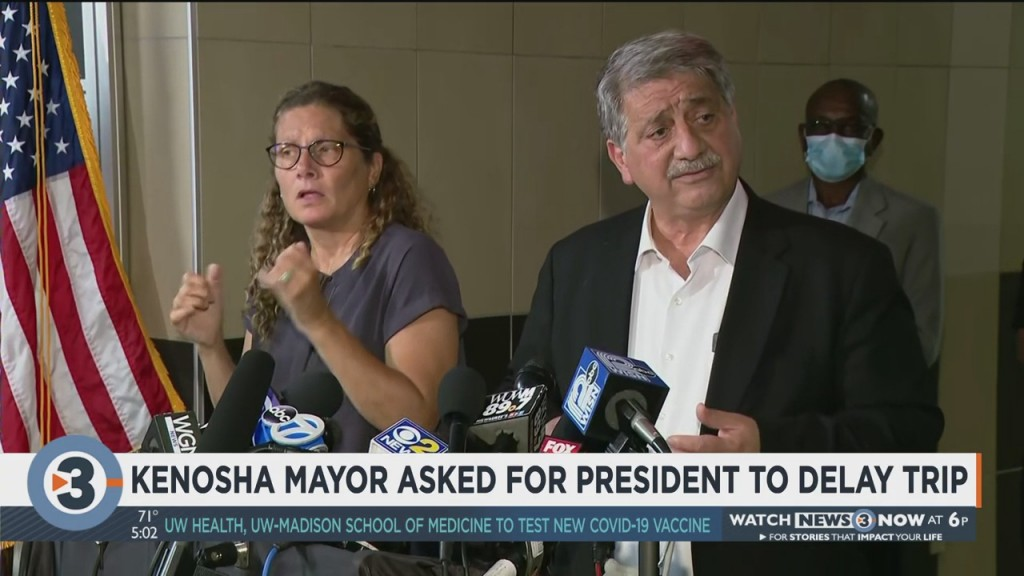 Kenosha Mayor Asked For President Trump To Delay Trip