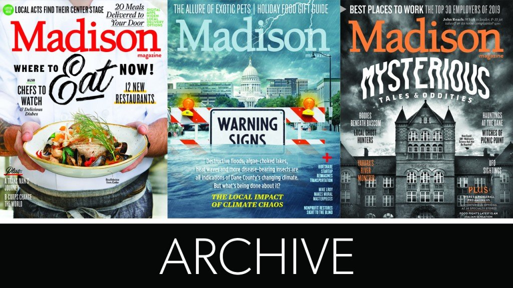 three magazine covers with the words archive