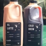 two big containers of latte and cold brew from Grace Coffee