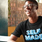 Person wearing a shirt that says self made