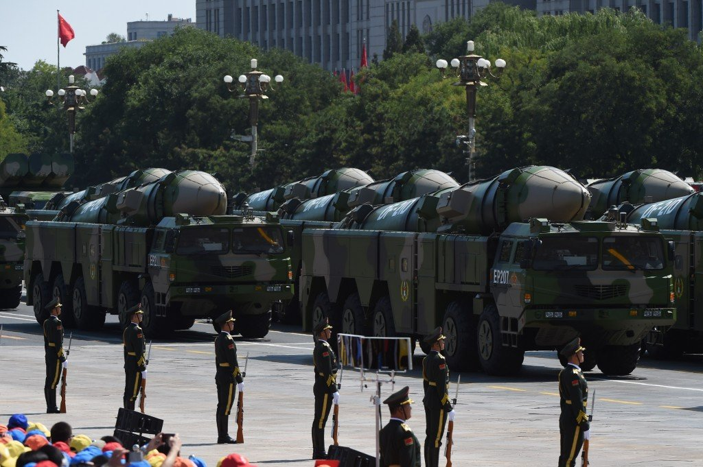 China DF-21D missiles