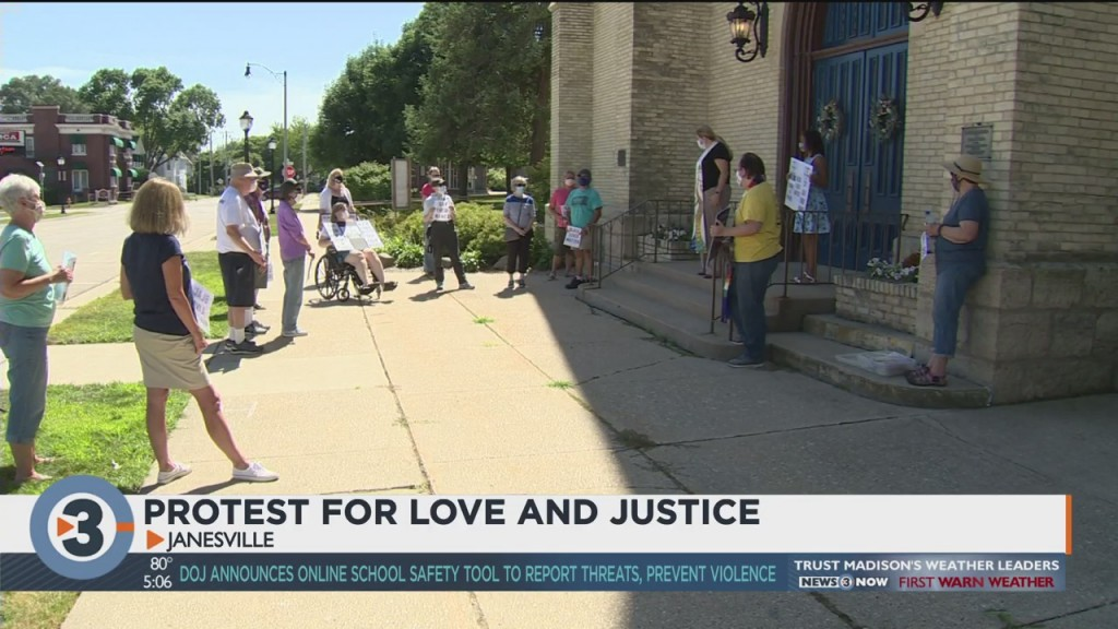 Protest For Love, Justice Held In Janesville