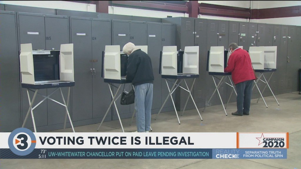 Top Election Official Reminds Wisconsinites Voting Twice Is Illegal