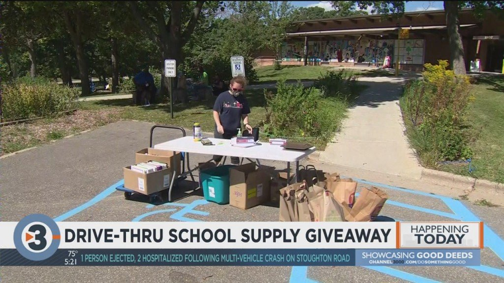 Madison Elementary School Hosts Drive Thru School Supply Giveaway