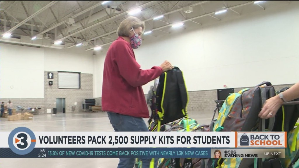 Volunteers Pack 2,500 Supply Kits For Students