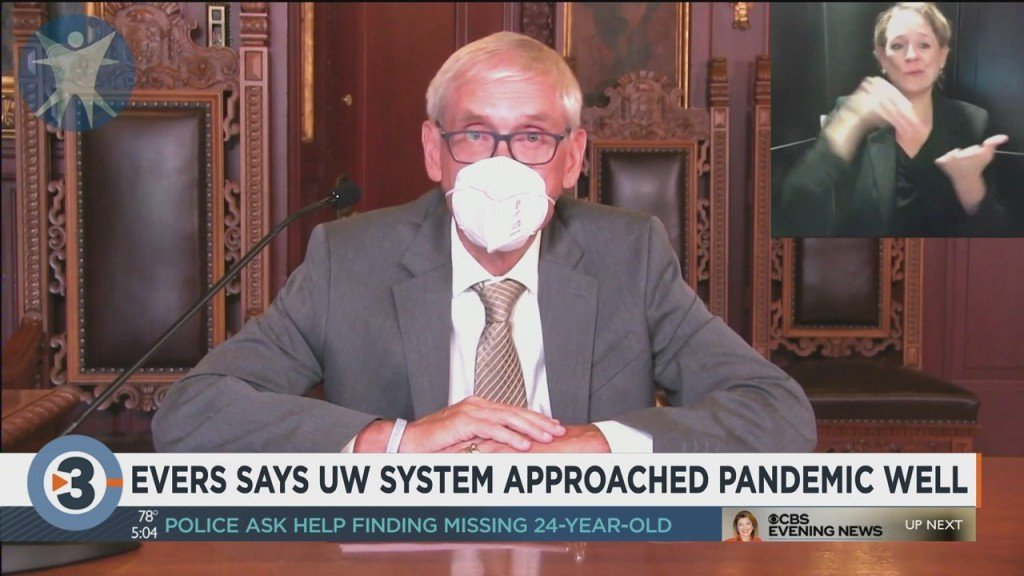 Gov. Evers Says Uw System Approached Pandemic Well